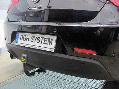 Ganci di traino estraibili kit elettrico 7poli per ALFA ROMEO GIULIETTA 2010